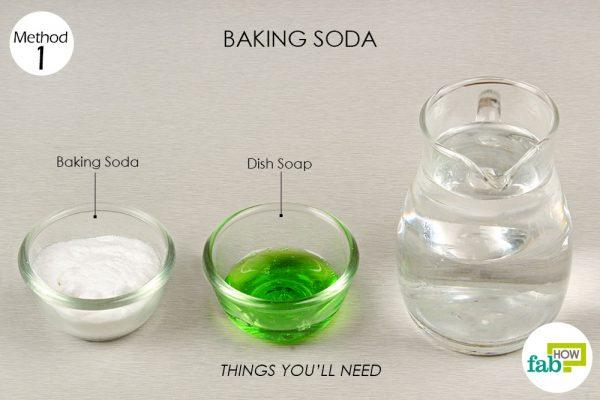 baking soda to clean marble