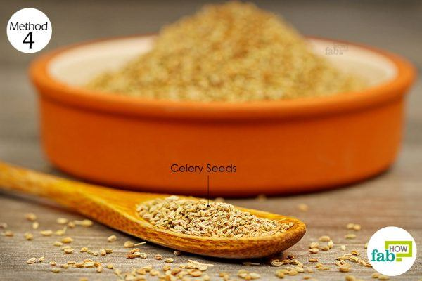 use celery seeds to get relief from gout