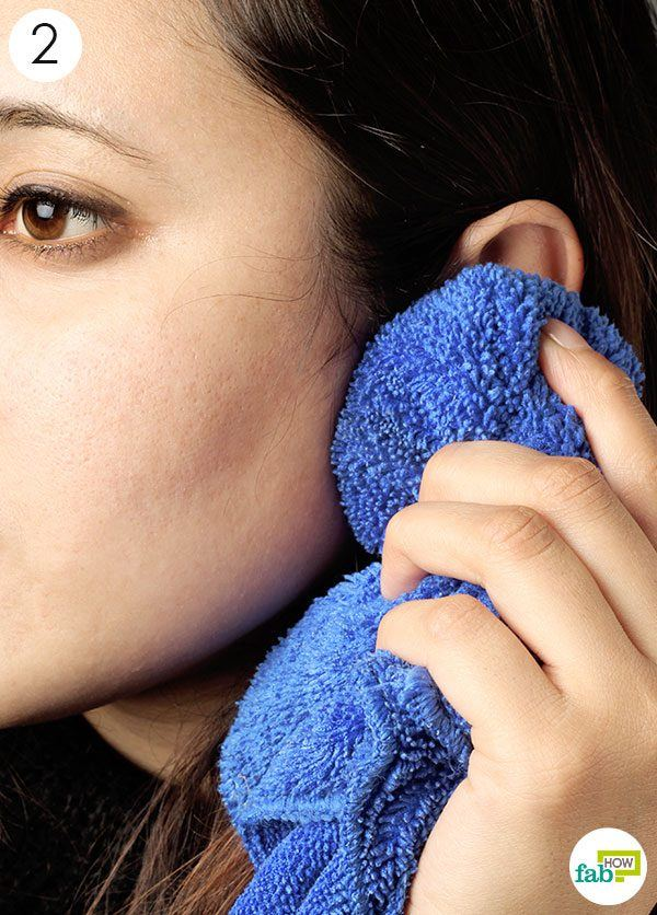 use the warm salt compress to soothe ear ache