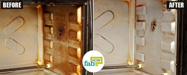 before after how to clean your oven toaster griller diy cleaner method
