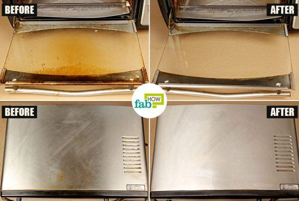 before after how to clean your oven toaster griller windex method