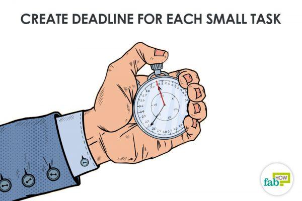 create deadlines