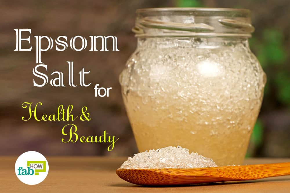 health and beauty hacks using epsom salt