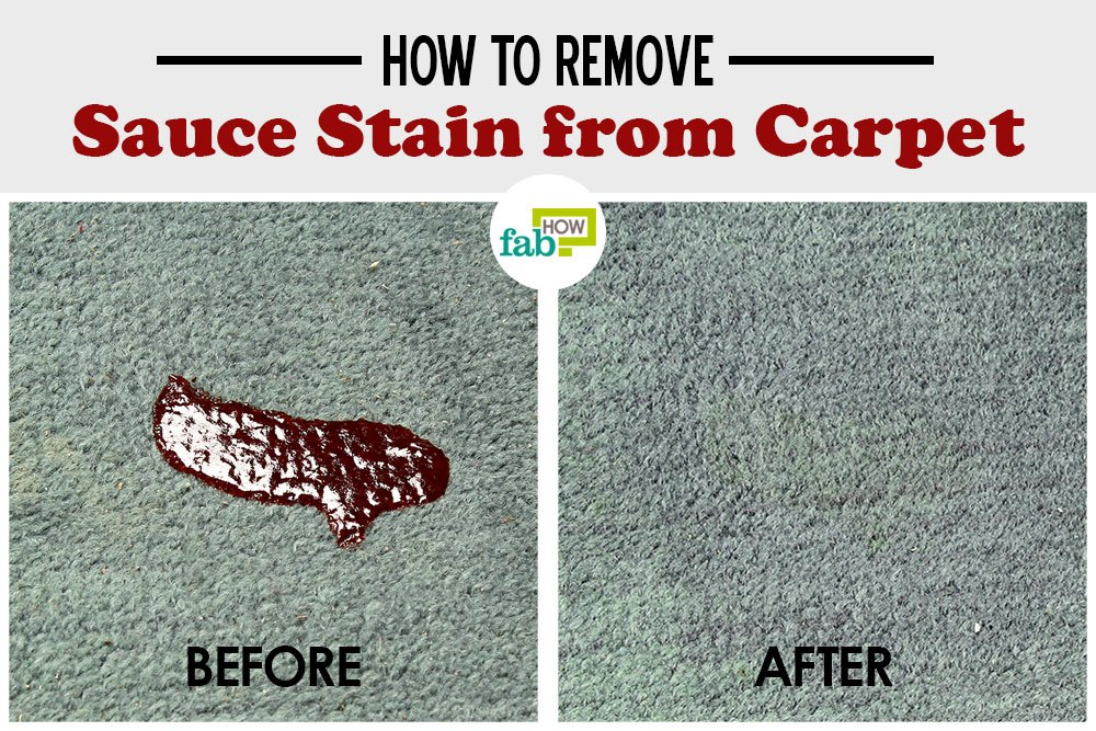 how to remove sauce stains from carpet