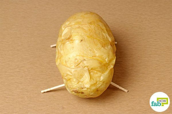 final bake potato on toothpicks
