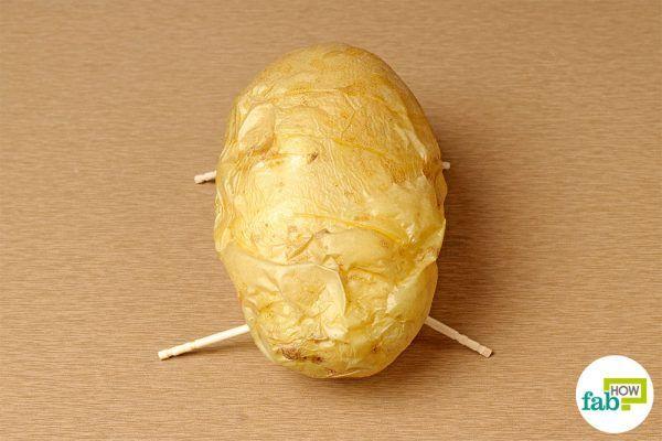 final bake potato on toothpicks
