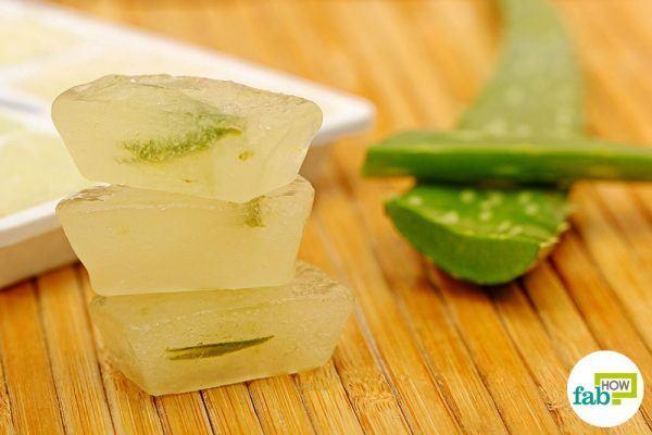 final for aloe vera in ice cube tray hacks