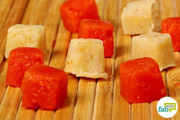 final for baby food in ice cube tray hacks