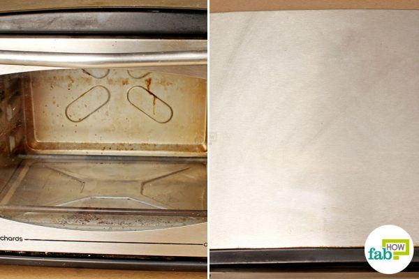 final image how to clean oven toaster griller windex method