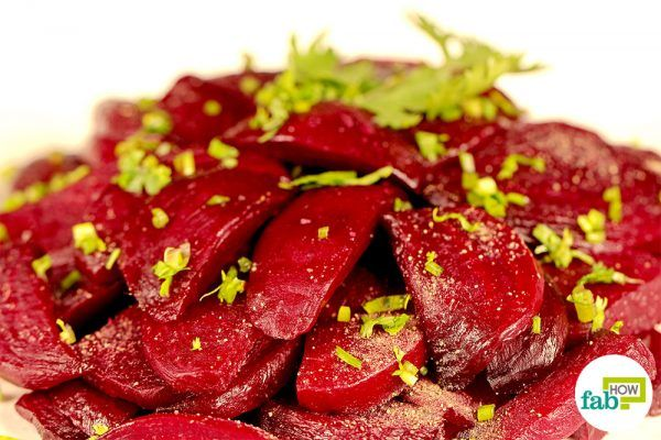 cooked beets through stir frying