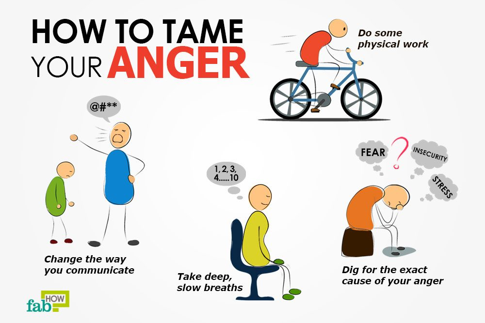 One of the important steps to dealing with your anger is to avoid needless  anger triggers. Stay away from people who rub you the wrong way or things  and ...