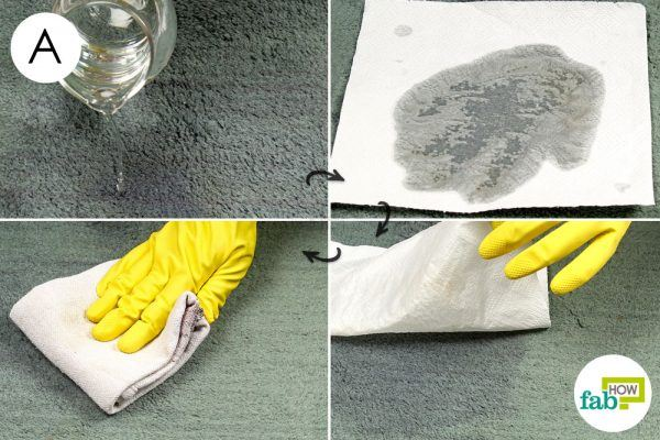 remove barbecue sauce stain with white vinegar
