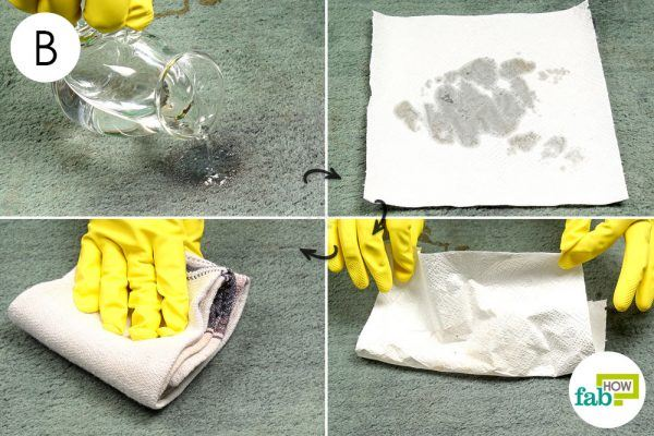 remove chocolate sauce stain with hydrogen peroxide