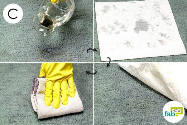 remove tomato sauce stain with white vinegar