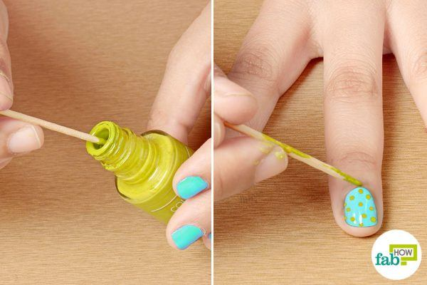 create nail art with toothpicks