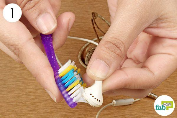 brush the earbud filters