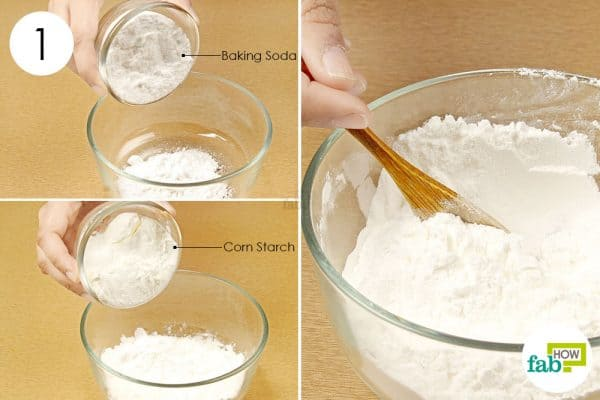 mix baking soda and cornstarch to get rid of body odor
