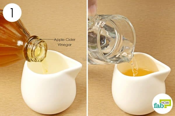 dilute apple cider vinegar to reduce body odor