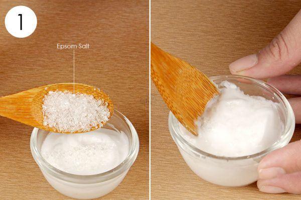 mix epsom salt and cleansing cream