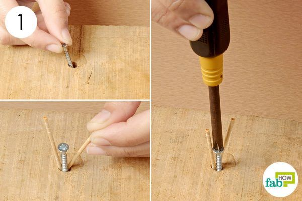 fill the extra space in the hole with toothpicks