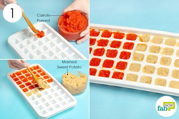 freeze pureed baby food