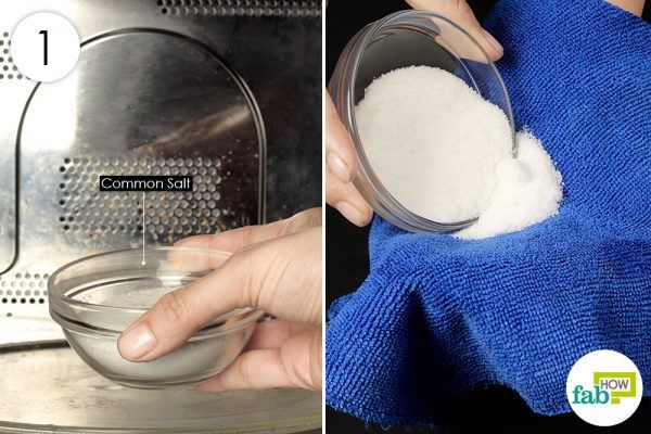 put salt on a towel and heat it in microwave