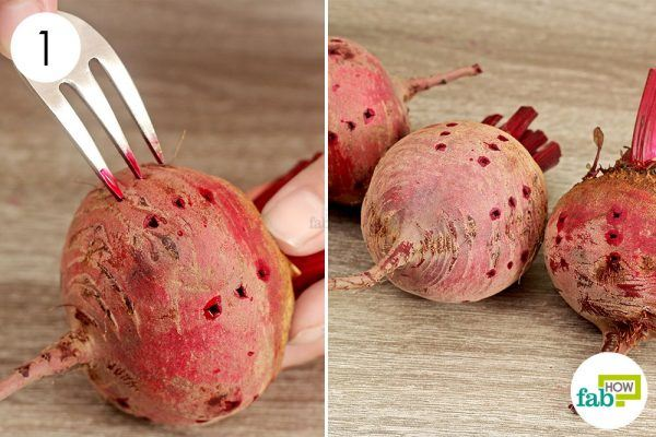 poke holes in the beets