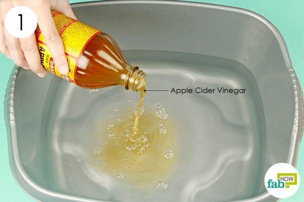 make apple cider vinegar foot soak