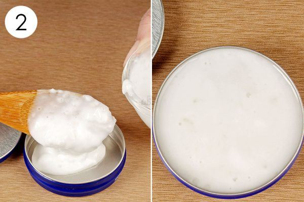 store exfoliating face mask in a container and use