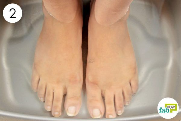 soak your feet for 30 minutes