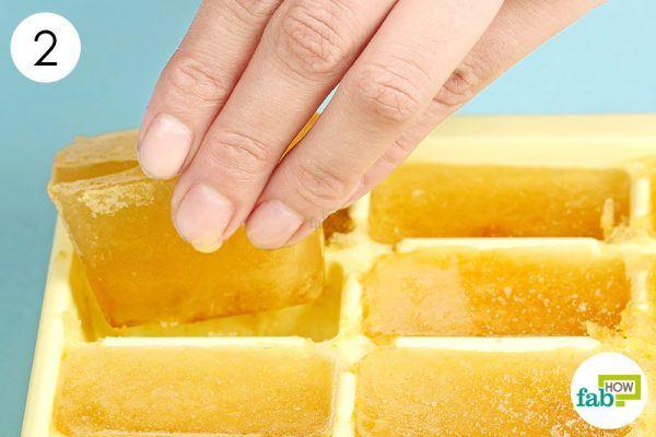 extract frozen tea cubes