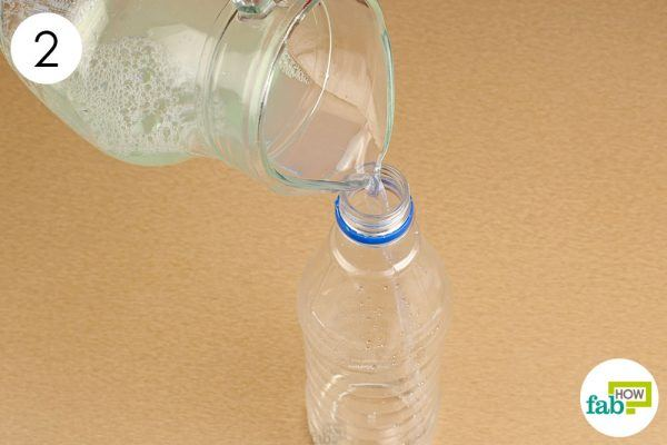 store the cleaner in a spray bottle for easy use