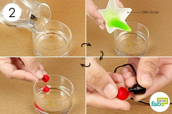 soak the silicone covers in soap solution