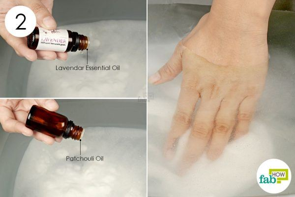 add essential oils to the tub