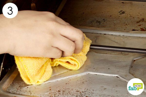 wipe clean with a damp towel