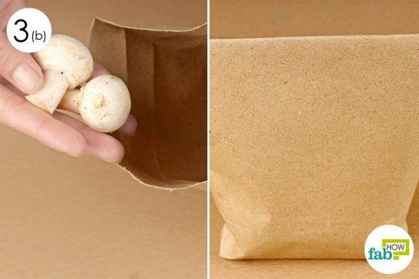 pack mushrooms in paper bag