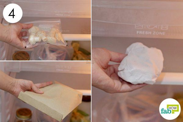put the packed mushrooms in refrigerator