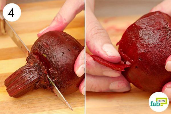 remove stems and roots and peel the skin off