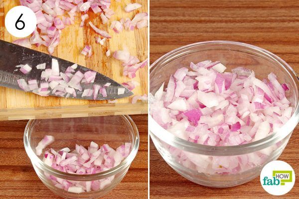 collect the diced pieces in a bowl and use
