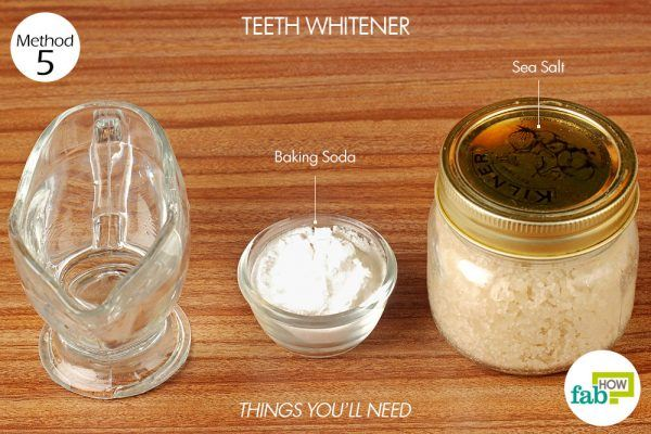 things you'll need to make teeth whitener using salt