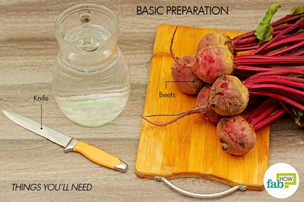things you'll need to prep the beets