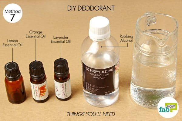 diy deodorant to reduce body odor things need