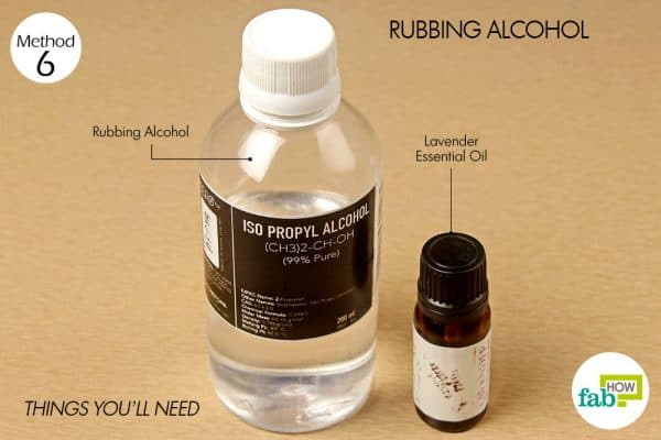 rubbing alcohol to reduce body odor things need