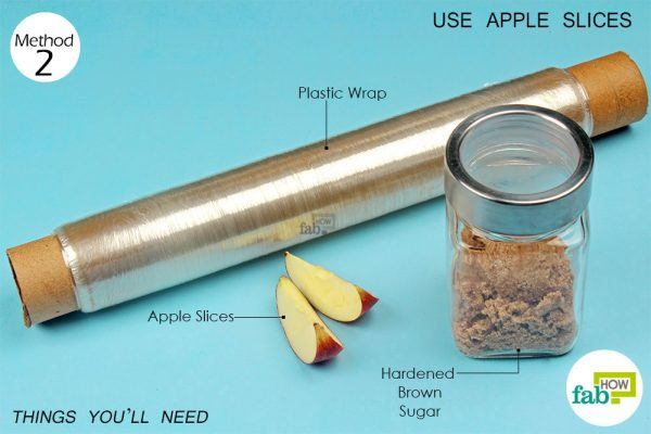 things you'll need to use aaple slices to soften brown sugar