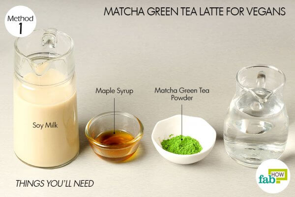 things you will need to make matcha green tea latte for vegans
