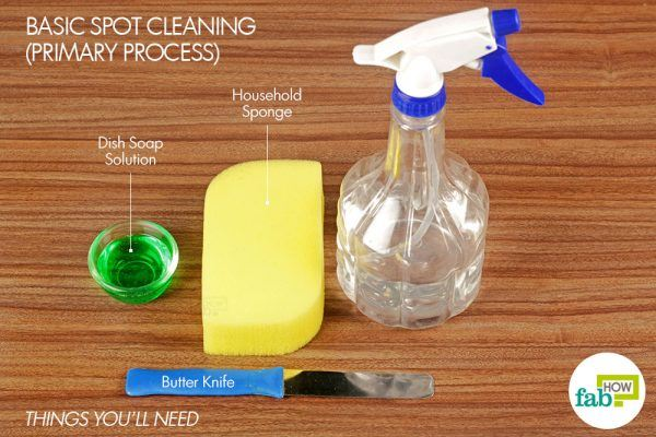 things you'll need for basic cleaning to remove sauce stains from carpet