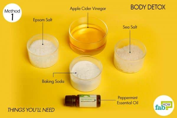 things you'll need to make body detox with epsom salt