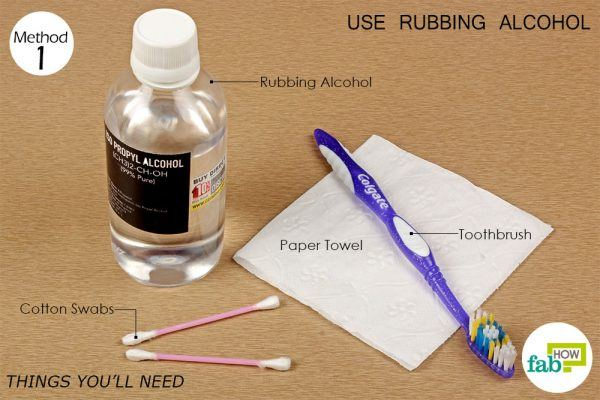 things you'll need for cleaning earbuds with rubbing alcohol