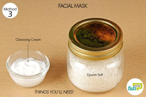 things you'll need to make facial mask with epsom salt