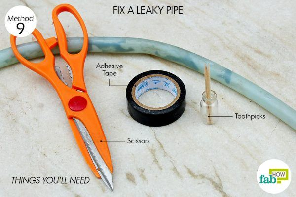 things you'll need to fix leaky pipe with toothpick